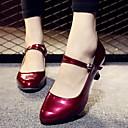 billige Ballroom-sko og moderne dansesko-Dame Dansesko PU Moderne sko Joggesko Flat hæl Hvit / Gull / Rød