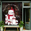 Χαμηλού Κόστους Christmas Stickers-Window Film & αυτοκόλλητα Διακόσμηση Ευτυχισμένο το νέο έτος / Χριστούγεννα Γεωμετρικό / Διακοπών / Χαρακτήρας PVC Αυτοκόλλητο παραθύρου / Αυτοκόλλητο πόρτας / Αστείος