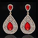Χαμηλού Κόστους Θρησκευτικά Κοσμήματα-Γυναικεία Cubic Zirconia Σκουλαρίκι Αχλάδι Κρεμαστό Στυλάτο Καλλιτεχνικό Πολυτέλεια Μοντέρνο Κορεάτικα Επιμεταλλωμένο με Πλατίνα Επιχρυσωμένο Σκουλαρίκια Κοσμήματα Λευκό / Κόκκινο Ανοικτό / Μπλε Για