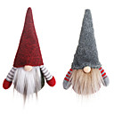 billiga Julpynt-jultomten juldekorationer ansiktslös docka gnom plysch hemfest dekoration nyårsgåva