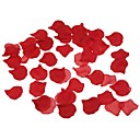 Χαμηλού Κόστους Ψεύτικα Λουλούδια & Βάζα-100pcs πακέτο κόκκινο ροδοπέταλα γάμο κόμμα μεταξωτό καρδιά σε σχήμα λουλούδι διακόσμηση