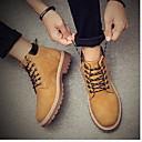 ราคาถูก รองเท้าบูตผู้ชาย-สำหรับผู้ชาย รองเท้าสบาย ๆ หนัง ฤดูหนาว บูท บู้ทสูงระดับกลาง สีดำ / สีน้ำตาล / สีเหลือง