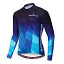 ราคาถูก ชุดเซทปั่นจักรยาน-สำหรับผู้ชาย แขนยาว Cycling Jersey แดง ฟ้า ไล่โทนสี จักรยาน เสื้อยืด ขี่จักรยานปีนเขา Road Cycling Moisture Wicking แห้งเร็ว Sweat-wicking กีฬา ฤดูหนาว Terylene ไลคร่า เสื้อผ้าถัก