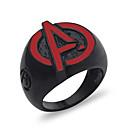 ราคาถูก แหวนผู้ชาย-สำหรับผู้ชาย แหวน 1pc สีดำ Titanium Steel รอบ ลำลอง / สปอร์ต ทุกวัน เครื่องประดับ สไตล์วินเทจ Flower น่ารัก