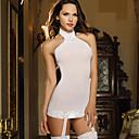 olcso Szintetikus parókák-Női Csipke / Nyitott hátú Sexy Harisnyakötős fehérnemű Hálóruha Egyszínű Fekete Fehér Rubin Egy méret