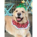 olcso Pet karácsonyi jelmezek-Kutyák Ékszerek Tél Kutyaruházat Zöld Karácsony Jelmez Nagy kutya Polyster Karácsony Sisakok S L