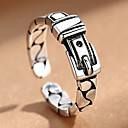 ราคาถูก แหวนผู้ชาย-สำหรับผู้ชาย สำหรับผู้หญิง ข้อมือแหวน 1pc สีดำ โลหะผสม สไตล์พื้นบ้าน Steampunk ของขวัญ ทุกวัน เครื่องประดับ