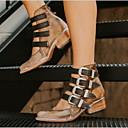 olcso Női csizmák-Női Csizmák Kényelmes cipők Alacsony Kerek orrú PU Bokacsizmák Ősz & tél Fekete / Barna / Bézs