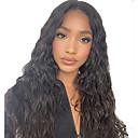 hesapli Gerçek Saç Örme Peruklar-Gerçek Saç Ön Dantel Peruk Serbest bölüm stil Düz Brezilya Saçı Dalgalı Doğal Dalgalar Siyah Peruk % 130 Saç yoğunluğu Bebek Saçlı Doğal saç çizgisi Siyahi Kadınlar İçin 100% bakire % 100 Elle