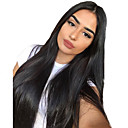 cheap Human Hair Wigs-Hair Care Synthetic Lace Front Wig Synthetic Extentions Silky Straight Middle Part Lace Front Wig Long Natural Black Synthetic Hair 18-30 inch Women's Soft Adjustable Synthetic Black