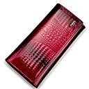 povoljno Novčanici-Uniseks Kravlja koža Novčanici Krokodil Crn / Lila-roza / purpurna boja