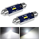 cheap Car Interior Lights-31mm 36mm 39mm 41mm Canbus LED Light Super Bright  12V DC 500LM White for Reading Door Glove Box License Plate Boot Light 2pcs