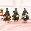 povoljno Božićni ukrasi-3pcs božićno drvce 22cm novogodišnji ukras za stol mini božićno ukrašavanje drvca