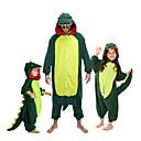 ราคาถูก ชุดนอน Kigurumi-สำหรับเด็ก Kigurumi Pajama Dinosaur รูปสัตว์ Onesie Pajama ผ้าสักหลาด ผ้าขนแกะ สีเขียว / แดง คอสเพลย์ สำหรับ เด็กชายและเด็กหญิง สัตว์ชุดนอน การ์ตูน Festival / Holiday เครื่องแต่งกาย