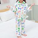 billige Undertøy og sokker til baby-2pcs Baby Jente Dinosaur Trykt mønster Monogram / Elegant / Dyre Mønster Nattøy Hvit