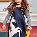 baratos Vestidos para Meninas-Infantil Para Meninas Desenho Animado Vestido Azul Claro