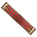 olcso Karácsonyi dekoráció-tányéralátét vacsora terítőkhez csúszásmentes kockás mintával a karácsonyi otthon dekorációhoz