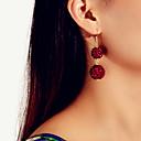 povoljno Tote torbe-Žene Naušnica Geometrijski Lopta Vintage Tropical pomodan Slatka Style Afrika Naušnice Jewelry Burgundac Za godišnjica Dar Stage Klub Jabuka 1 par