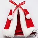 olcso Pet karácsonyi jelmezek-Kutyák Macskák Házi kedvencek Pelerin/köpeny Tél Kutyaruházat Piros Jelmez Polyster Egyszínű Karácsony Szerepjáték Karácsony XS S M L XL