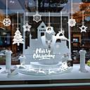 Χαμηλού Κόστους Christmas Stickers-Window Film & αυτοκόλλητα Διακόσμηση Με Μοτίβο / Χριστούγεννα Διακοπών / Χαρακτήρας PVC Αυτοκόλλητο παραθύρου / Αυτοκόλλητο πόρτας