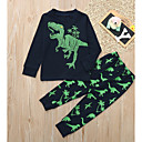 Χαμηλού Κόστους Σετ ρούχων για αγόρια-Παιδιά Αγορίστικα Βασικό Κινούμενα σχέδια Μακρυμάνικο Σετ Ρούχων Βαθυγάλαζο