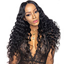 cheap Human Hair Wigs-Virgin Human Hair Human Hair 4x13 Closure Lace Front Wig style Peruvian Hair Loose Wave Natural Wig 130% 250% Density with Baby Hair Natural Hairline African American Wig For Black Women With