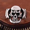 billiga Herrsmycken-Herr Bandring Ring 1st Svart Titanstål Geometrisk Vintage Punk Rock Halloween Street Smycken Vintage Stil Döskalle Dyrbar Häftig