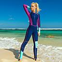 Χαμηλού Κόστους Σετ επιστήμης και εξερευνήσεων-SBART Γυναικεία Dive κοστούμι του δέρματος Spandex Στολές κατάδυσης Προστασία από τον ήλιο UV Αναπνέει Γρήγορο Στέγνωμα Πλήρης κάλυψη Μποστινό Φερμουάρ - Κολύμβηση Σέρφινγκ Ψαροντούφεκο Patchwork
