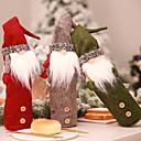 ราคาถูก อุปกรณ์เสริมไวน์-คริสมาสต์ faceless ตุ๊กตาขวดชุดเย็บปักถักร้อยถุงไวน์ชุดวันหยุด