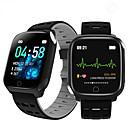 baratos Acessórios para PS4-F16 pulseira inteligente ecg banda freqüência cardíaca pressão arterial de oxigênio no sangue monitoramento do sono rastreador de fitness relógio inteligente à prova d 'água
