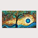 olcso Virág festmények-Hang festett olajfestmény Kézzel festett - Virágos / Botanikus Absztrakt tájkép Modern Anélkül, belső keret
