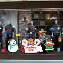 olcso Christmas Stickers-karácsonyi rajzfilm aranyos ablak film& ampampamp matricák dekorációs állati / mintás ünnepi / karakter / geometriai pvc (polivinil-klorid) ablak matrica