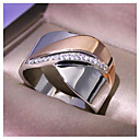 billige Ringer i sterlingsølv-Dame Ring Kubisk Zirkonium 1pc Gull Kobber Geometrisk Form Mote Fest Daglig Smykker geometriske Sommerfugl Kul