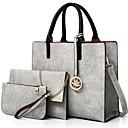 Χαμηλού Κόστους Σετ τσάντες-Γυναικεία PU Σετ τσάντα Συμπαγές Χρώμα 3 σετ Σετ τσαντών Μαύρο / Κάμελ / Ανθισμένο Ροζ