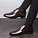 baratos Oxfords Masculinos-Homens Sapatos Confortáveis Couro Ecológico Outono & inverno Oxfords Preto / Marron
