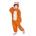 ราคาถูก เสื้อผ้าสำหรับสุนัข-สำหรับเด็ก Kigurumi Pajama Tiger รูปสัตว์ Onesie Pajama ผ้าสักหลาด ผ้าขนแกะ ส้ม คอสเพลย์ สำหรับ เด็กชายและเด็กหญิง สัตว์ชุดนอน การ์ตูน Festival / Holiday เครื่องแต่งกาย