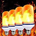 baratos Lâmpadas LED em Forma de Espiga-4 pcs lâmpada de chama led e27 99led lâmpada efeito de chama lâmpadas de fogo piscando emulação decoração lâmpada led ac85-265v