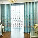 povoljno Prozorske zavjese-Moderna Zavjese Zavjese Dvije zavjese Zavjesa / Zamračenje / Vez / Living Room