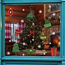 Χαμηλού Κόστους Αντρικά Εσώρουχα & Κάλτσες-Window Film & αυτοκόλλητα Διακόσμηση Με Μοτίβο / Χριστούγεννα Διακοπών / Χαρακτήρας PVC Αυτοκόλλητο παραθύρου / Αυτοκόλλητο πόρτας