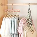baratos Armazenamento de Roupas-2 pcs organizador de cabide de roupas multi-porta suporte racks de secagem cabides de plástico cachecol cabide rack de armazenamento