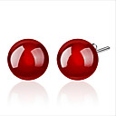 cheap Religious Jewelry-LUKENI Trendy 925 Sterling Silver Earrings For Women Party Jewelry Charm Red Crystal Black Ball Female Earrings Accessories Gift