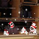 Χαμηλού Κόστους Christmas Stickers-Window Film & αυτοκόλλητα Διακόσμηση Άνιμαλ / Χριστούγεννα Γεωμετρικό / Διακοπών / Χαρακτήρας PVC Αυτοκόλλητο παραθύρου / Αστείος
