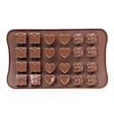 ราคาถูก แม่พิมพ์เค้ก-24 หลุมกุหลาบรักช็อคโกแลตซิลิโคนแม่พิมพ์เครื่องมือแต่งหน้าเค้ก