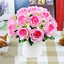 billige Kunstige blomster & Vaser-1 stk kunstig blomst rose 9 farger enkelt gren rose høykvalitets silke blomst falske blomster hjem dekorasjon falsk blomst