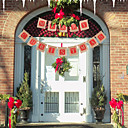 olcso Fali rögzítők-boldog karácsonyt len angol banner ábécé díszek újévi lakberendezés