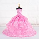 ราคาถูก อุปกรณ์ตุ๊กตา-ชุดตุ๊กตา ปาร์ตี้และมื้อเย็น สำหรับ Barbie เส้นใยสังเคราะห์ ชุดเดรส สำหรับ ของหญิงสาว ของเล่นตุ๊กตา