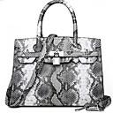 povoljno Tote torbe-Žene Patent-zatvarač PU Torba s ručkom Cvijetni print Obala / purpurna boja / Bijela
