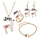 Χαμηλού Κόστους Θρησκευτικά Κοσμήματα-Γυναικεία Κρίκοι Κρεμαστό Βραχιόλι Σκουλαρίκια Κοσμήματα Λευκό Για Χριστούγεννα Halloween 5 σετ / Δαχτυλίδι