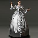 Χαμηλού Κόστους Santa Suits & Χριστούγεννα-Λολίτα Πανκ Rococo Victorian 18ος αιώνας Φορέματα Κοστούμι πάρτι Χορός μεταμφιεσμένων Γυναικεία Κοριτσίστικα Δαντέλα Σατέν Στολές Ροζ / Γκρίζο Πεπαλαιωμένο Cosplay Πάρτι Χοροεσπερίδα Μακρυμάνικο Μακρύ