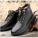 povoljno Muške čizme-Muškarci Vojničke čizme Koža Jesen zima Uglađeni Čizme Hodanje Ugrijati Čizme gležnjače / do gležnja Crn / Braon